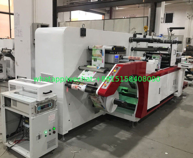 Full Rotary Semi Intermittent Die Cutting Machine With Slitting 1 Color Print Sheet Cutting Collection Table